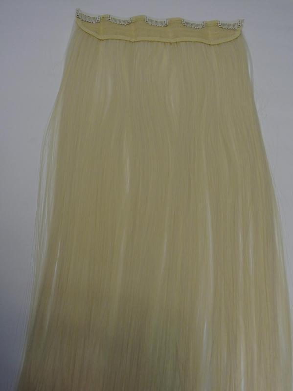 11-20 волосы трессы цвет блонд №613 затылочная прядь на заколк... - Фото 2