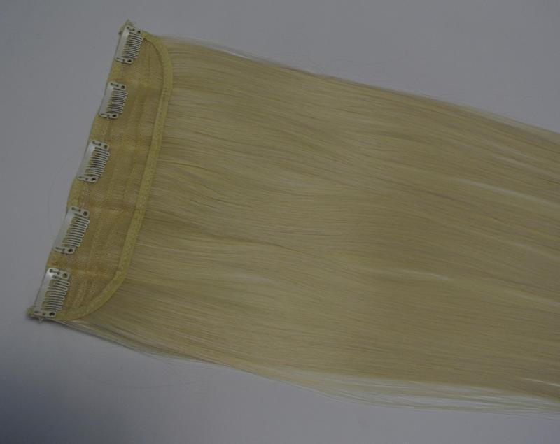 11-20 волосы трессы цвет блонд №613 затылочная прядь на заколк... - Фото 3