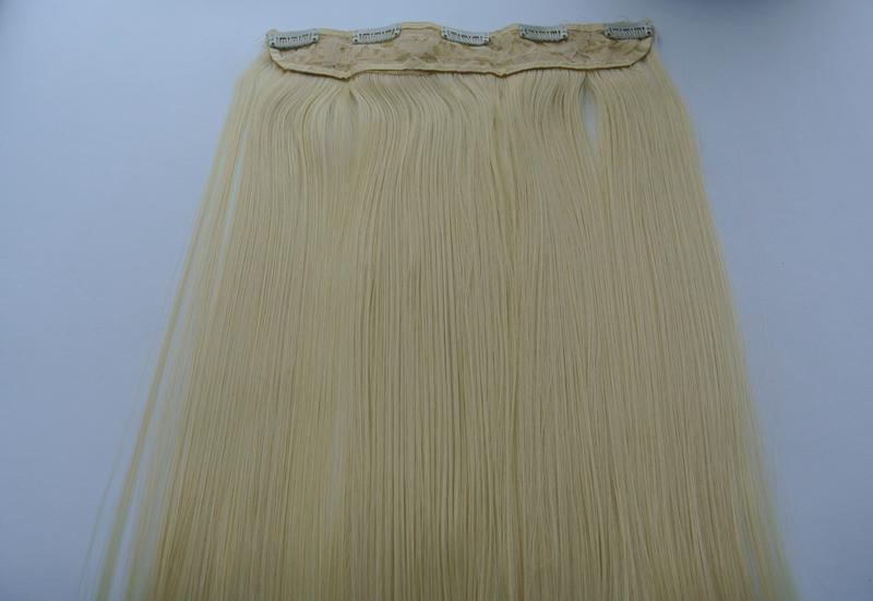 11-20 волосы трессы цвет блонд №613 затылочная прядь на заколк... - Фото 4