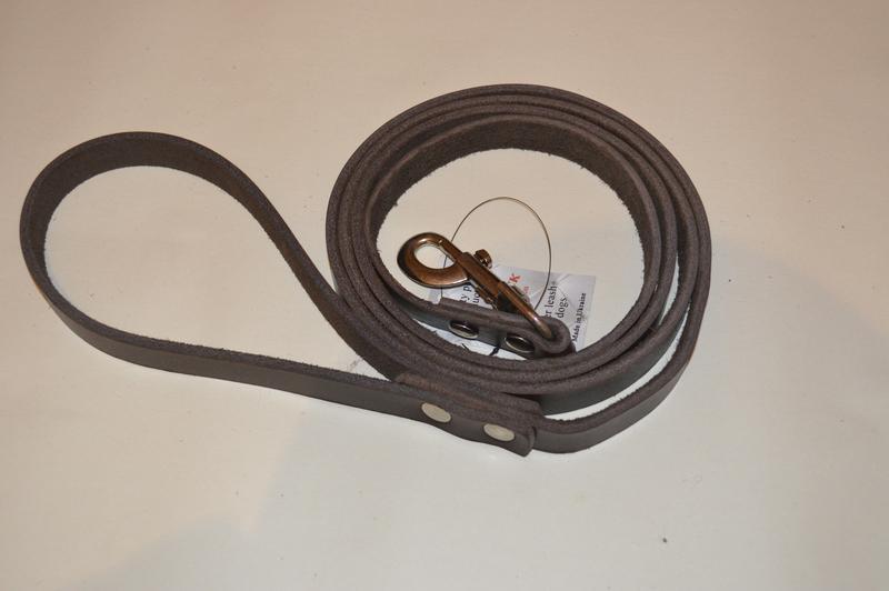 Кожаный поводок для собак Jack&Jack   1.9 м * 16мм - Фото 2