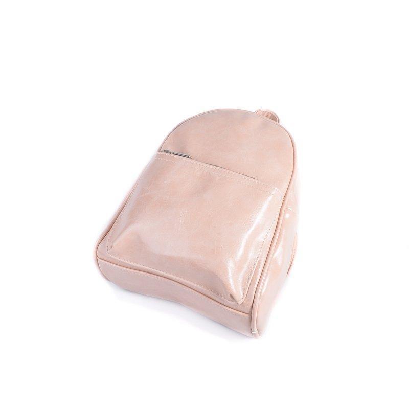 Маленький женский рюкзак из эко-кожи, мини рюкзак пудра - Фото 5