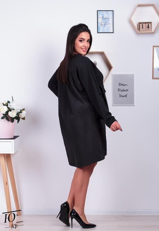 Женское платье-туника батал - Фото 2