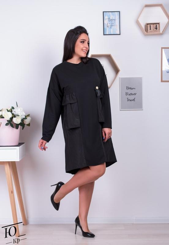 Женское платье-туника батал - Фото 3