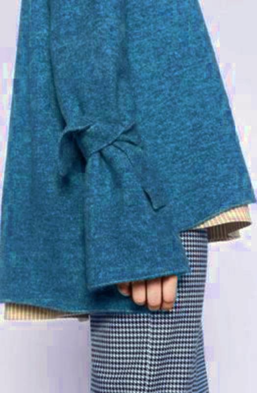 Тренд свитер оверсайз с завязками на рукавах от vero moda