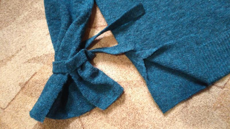 Тренд свитер оверсайз с завязками на рукавах от vero moda - Фото 3