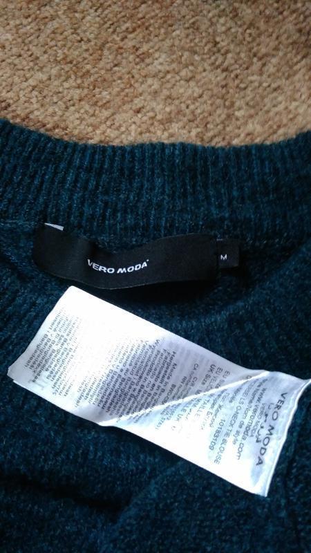 Тренд свитер оверсайз с завязками на рукавах от vero moda - Фото 4