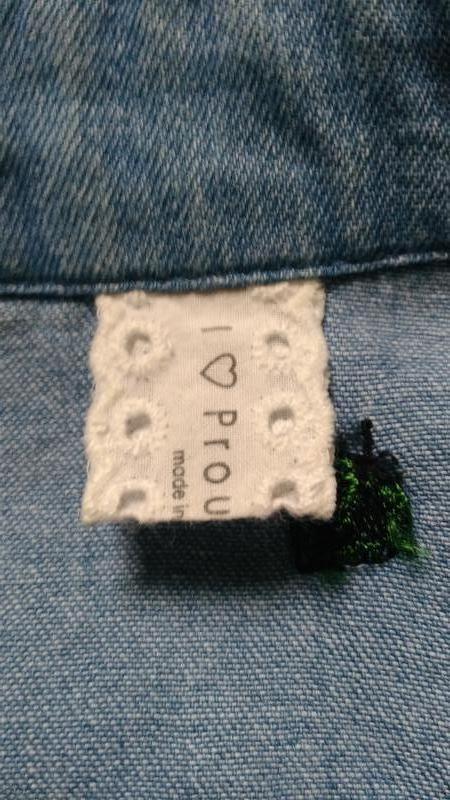 Джинсовая рубашка с вышивкой - Фото 5