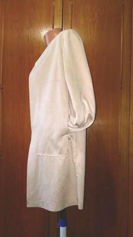 Легкое замшевое пальто жакет  с велюровым эффектом charles voe... - Фото 3