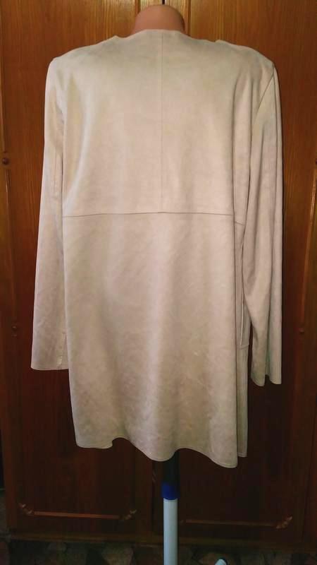 Легкое замшевое пальто жакет  с велюровым эффектом charles voe... - Фото 4