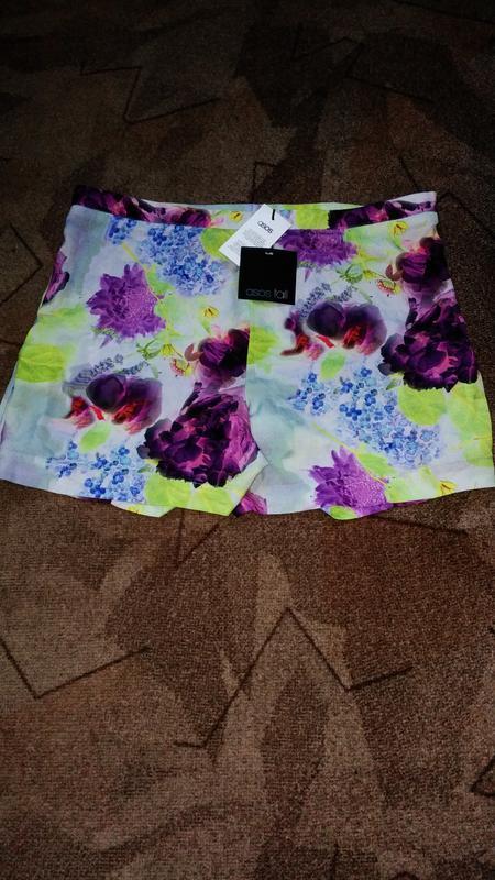 Новые яркие шорты с складками по бокам от asos - Фото 4