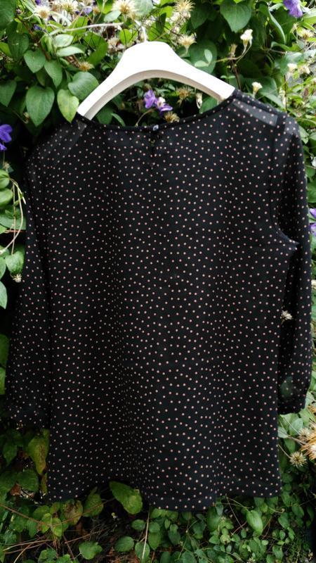 Блуза в мелкий горох от f&f - Фото 4