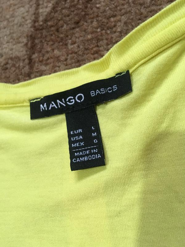 Шифоновая майка топ от  mango - Фото 4
