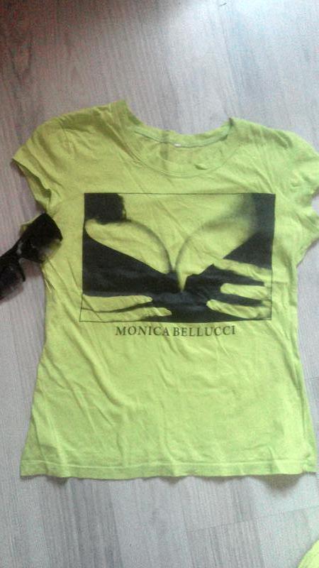 Яркая фисташковая футболка р.s - Фото 2