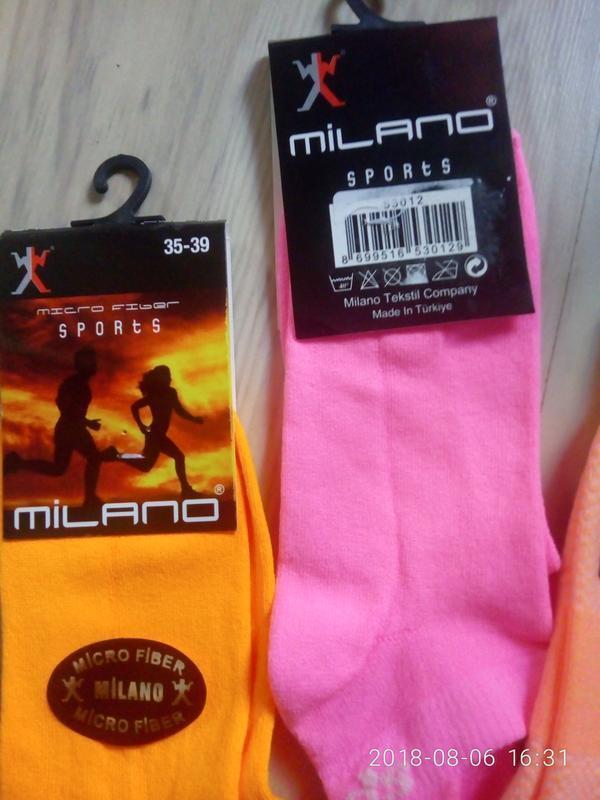 Акция!!! 3 пары спортивных носочков с задниками из микрофибры - Фото 5