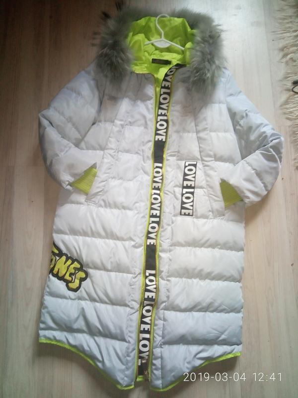 Бомбезная куртка, пальто с натуральным мехом - Фото 2