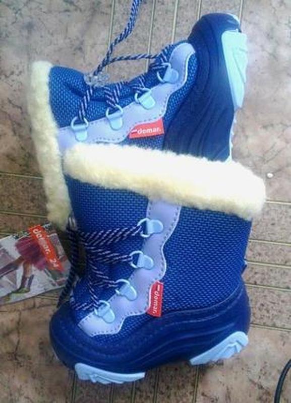 Детские зимние сапоги демар сноу мар синие польша оригинал 20-29р - Фото 4