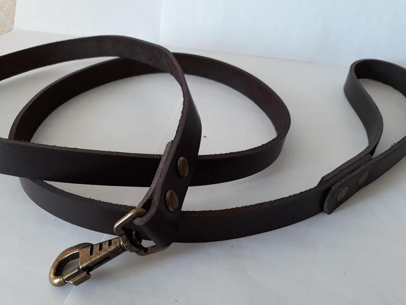 Кожаный поводок для собак  1.9 м * 20 мм Jack&Jack