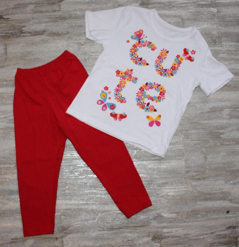 Летний костюм (футболка+лосины) на 80-116см