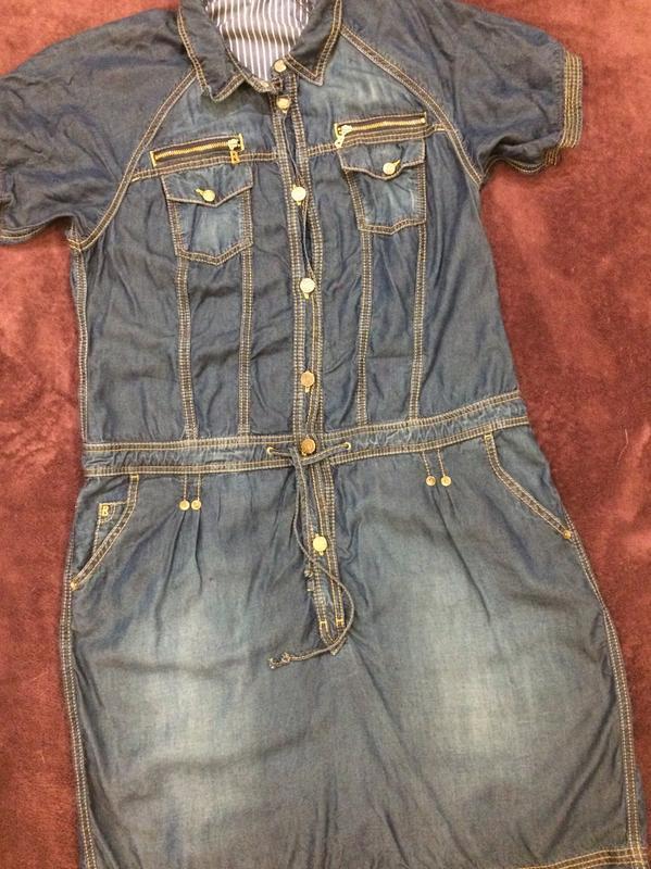 Bogner оригинал стильное джинсовое платье - Фото 3