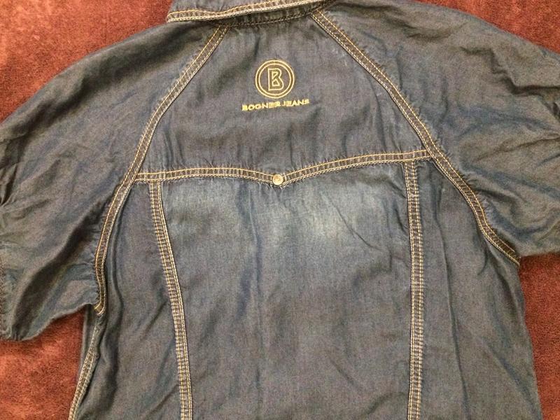 Bogner оригинал стильное джинсовое платье - Фото 4