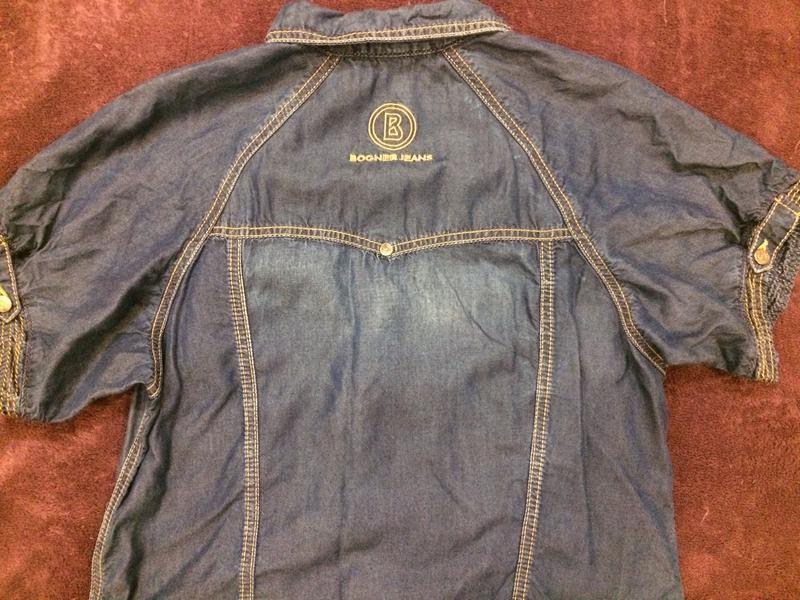 Bogner оригинал стильное джинсовое платье - Фото 5