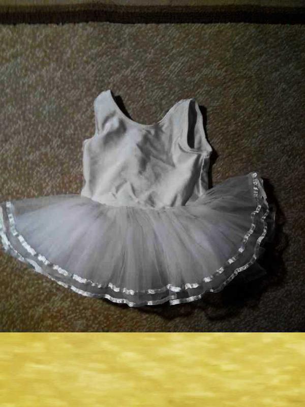 Купальник с пачкой для балеринки, девочки 1 - 2 года