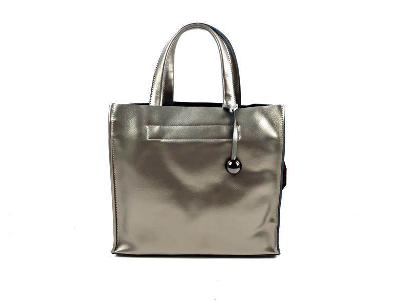 Серебряная сумка шопер, galanty