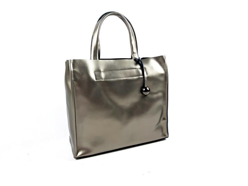 Серебряная сумка шопер, galanty - Фото 5