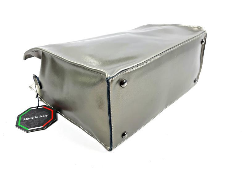 Серебряная сумка шопер, galanty - Фото 7