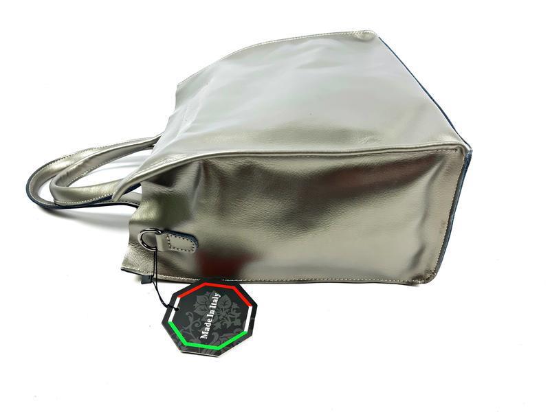 Серебряная сумка шопер, galanty - Фото 8