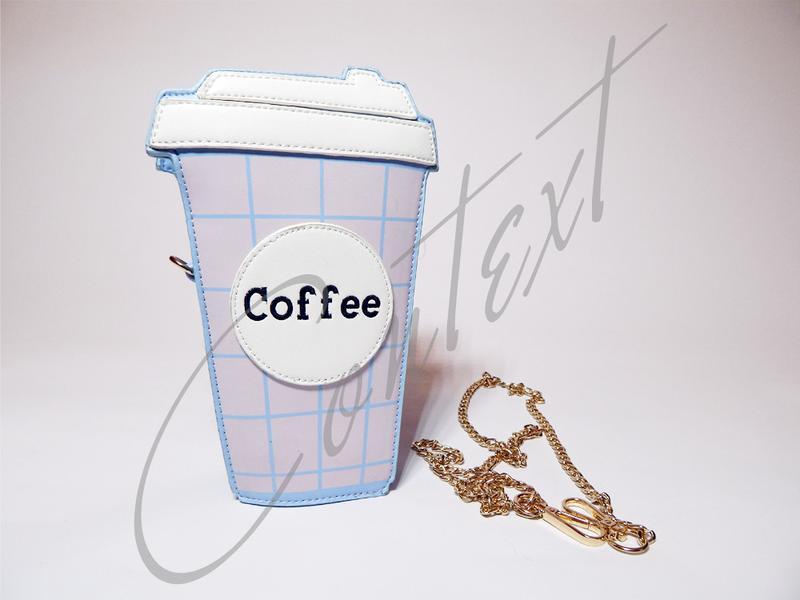 Сумка клатч стакан кофе