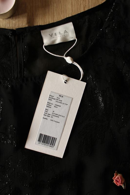 Шифоновая блузка vila - Фото 4