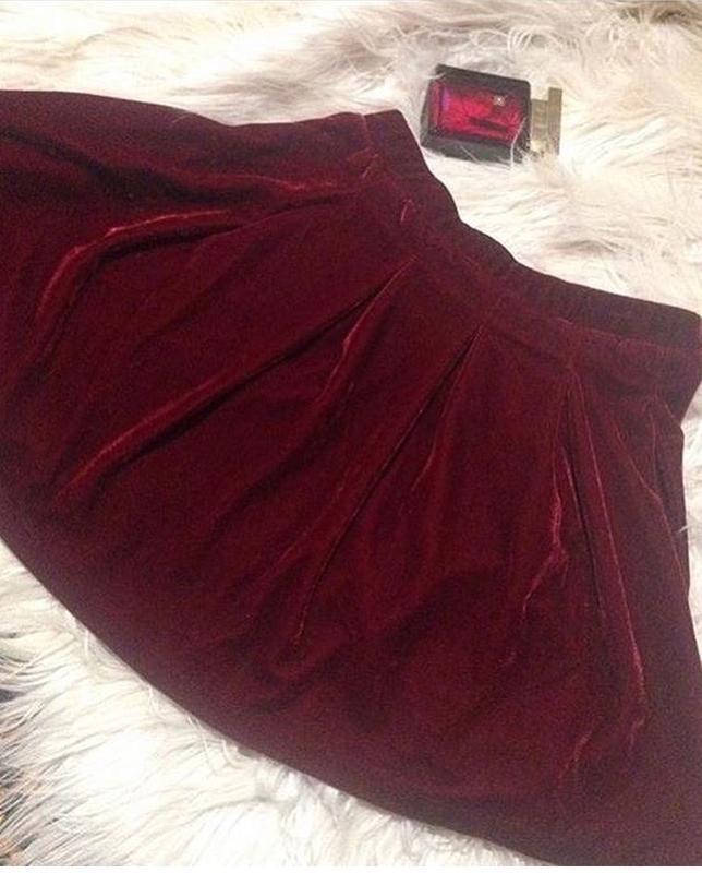 Велюровая юбочка марсала  от zara - Фото 2