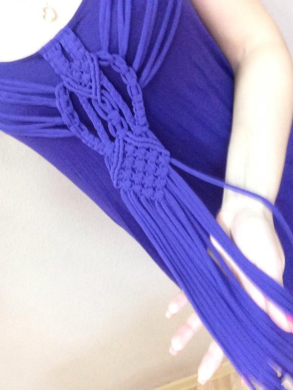 Летнее платье с красивым плетёным  декором - Фото 2