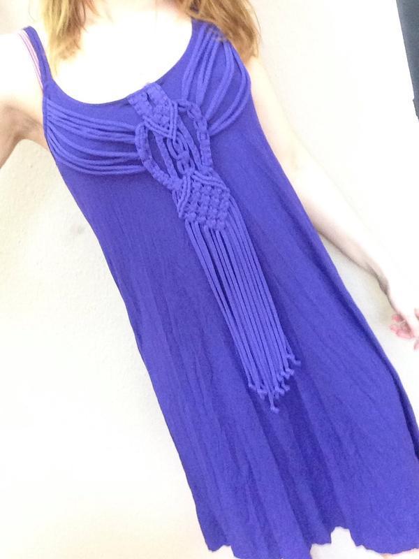 Летнее платье с красивым плетёным  декором - Фото 3