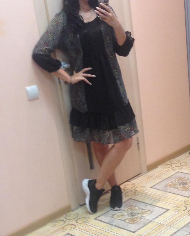 Шифоновое платье с рюшами на купальник - Фото 3
