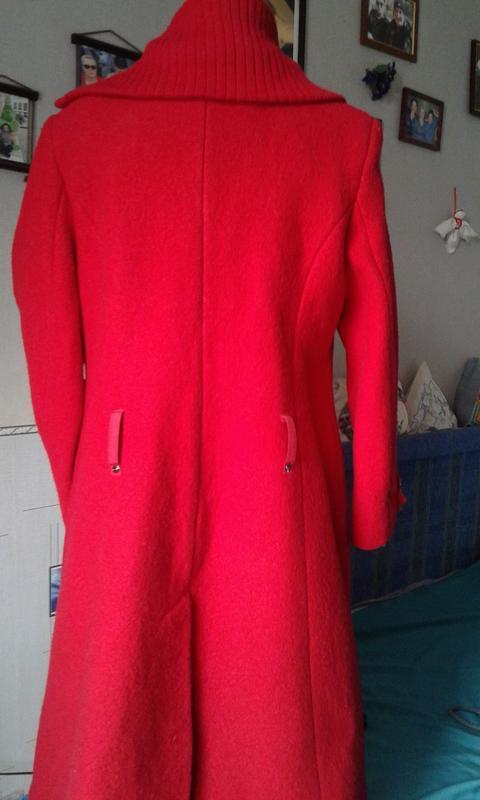 Оригинальное пальто ассиметричное шерстяное  р 48(корея)-стиль... - Фото 2