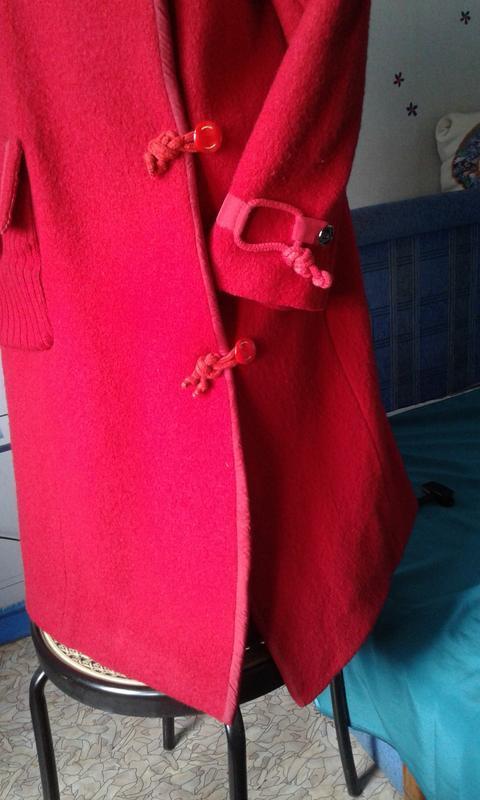 Оригинальное пальто ассиметричное шерстяное  р 48(корея)-стиль... - Фото 3
