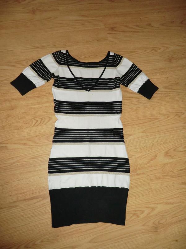 Полосатое платье мини