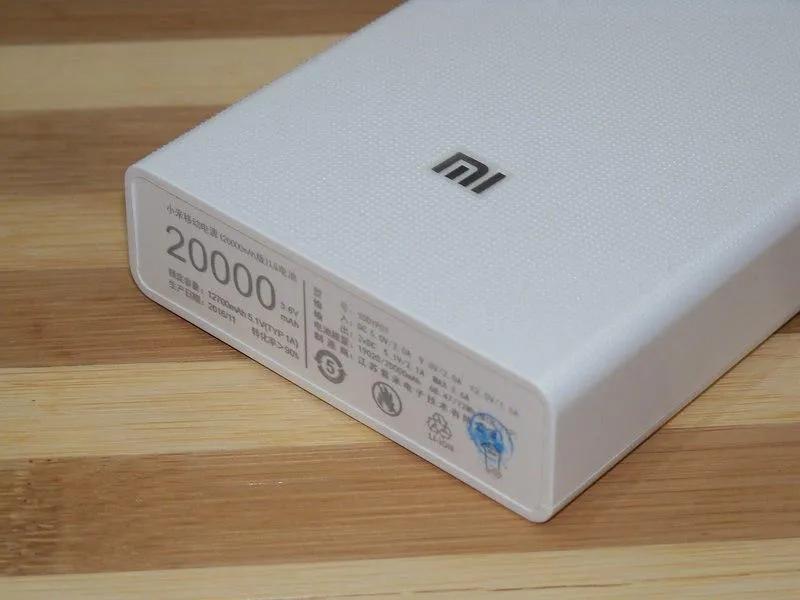 Power bank Xiaomi 20000mAh 2 USB мощный повербанк, портативная - Фото 8