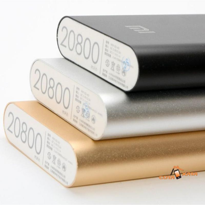Повер банк Xiaomi 20800 mAh Power Bank Внешний Аккумулятор СЕРЕБР - Фото 7