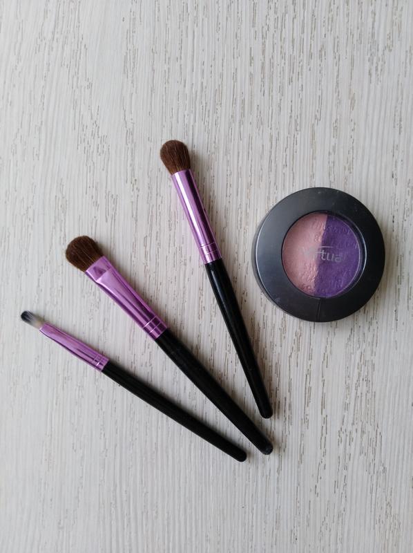 Тени для век розовый фиолетовый - Фото 2