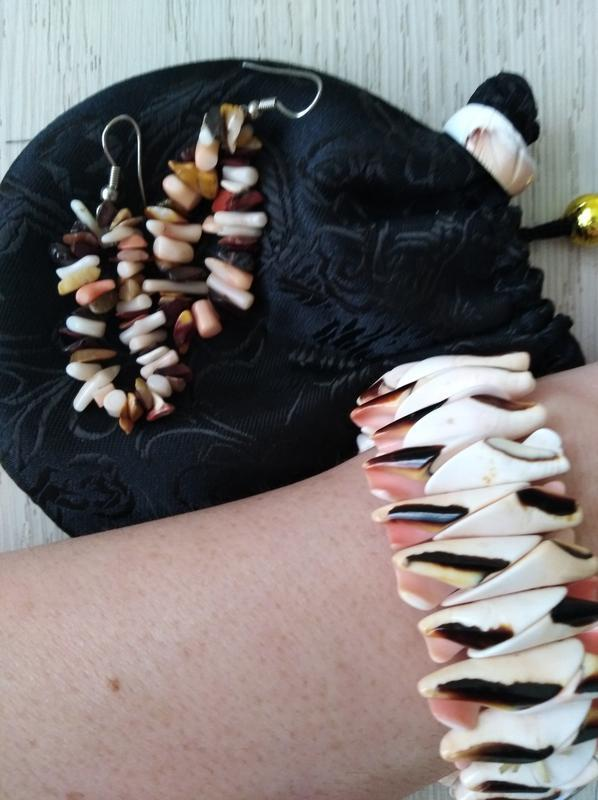 Браслет и серьги из ракушек набором или отдельно - Фото 2