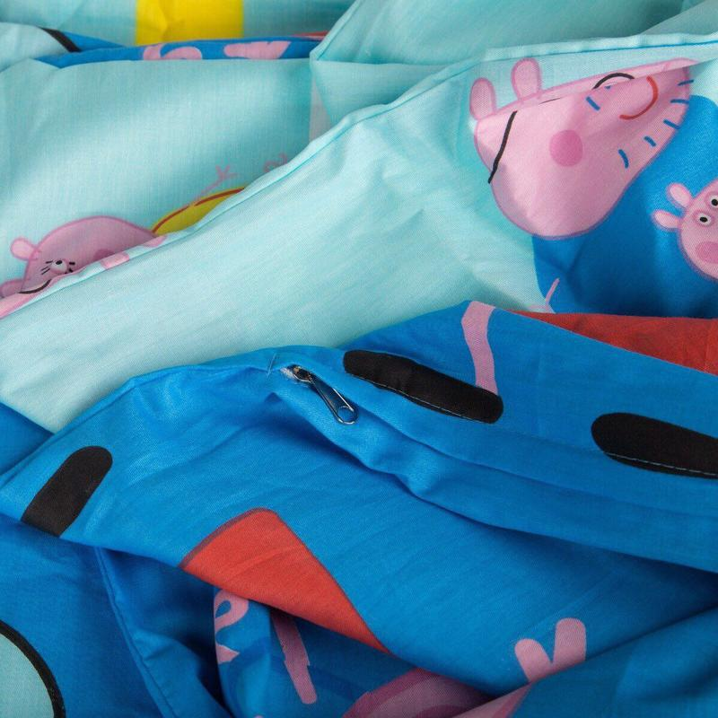 Постельный комплект свинка пеппа сатиновый - Фото 2