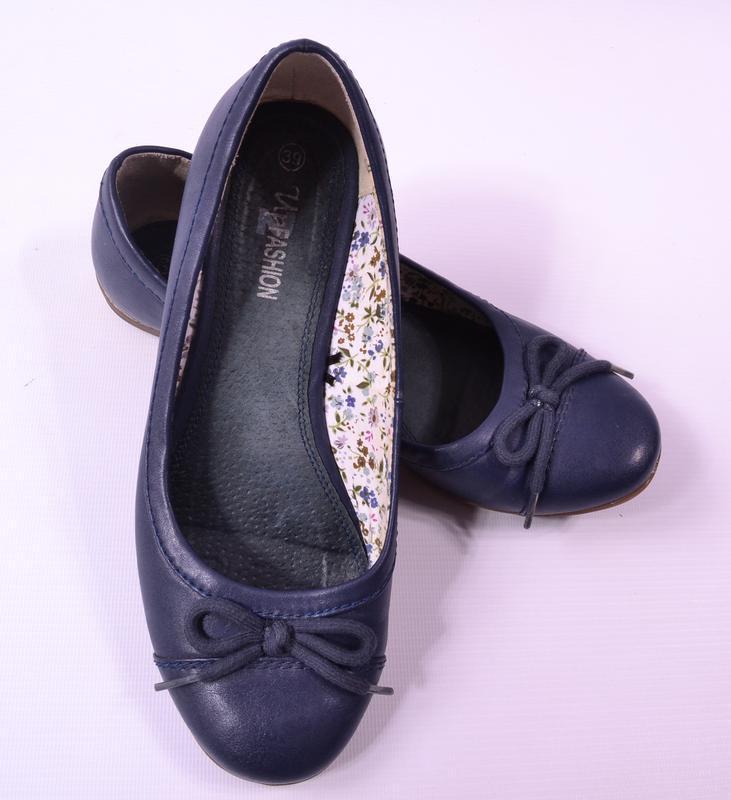 Синие балеточки up fashion - Фото 2
