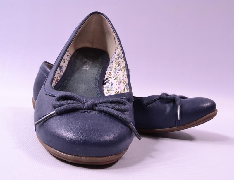 Синие балеточки up fashion - Фото 3
