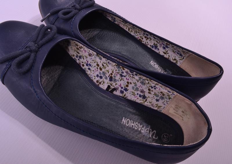 Синие балеточки up fashion - Фото 4