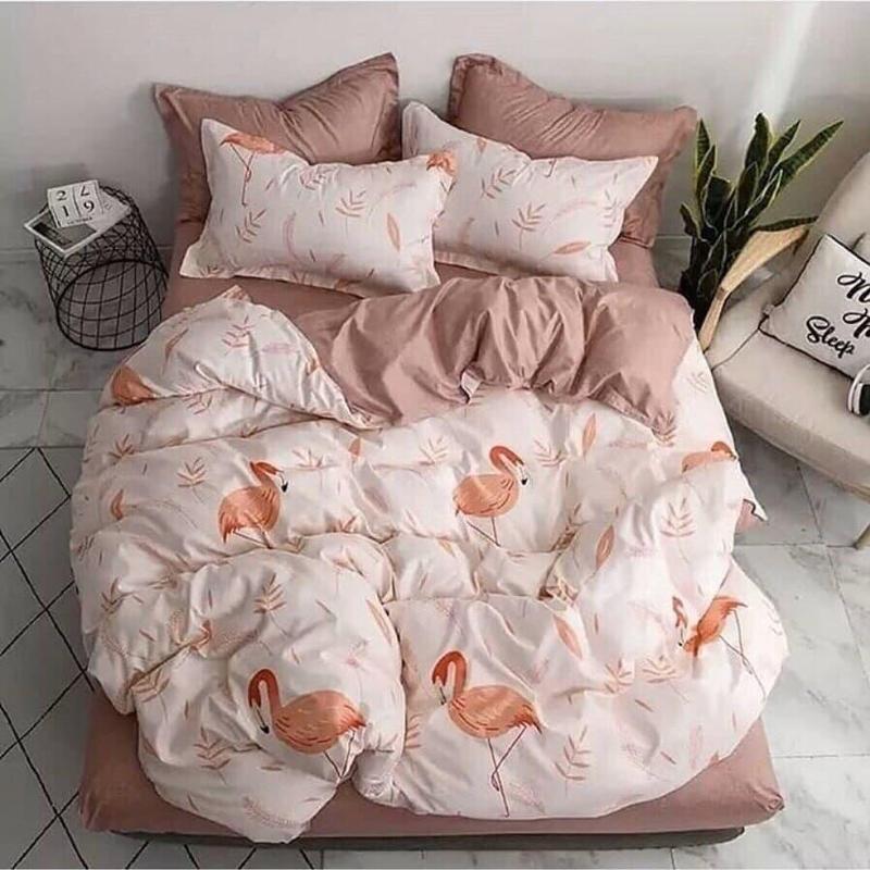 Постельное белье фламинго. полуторный , двуспальный