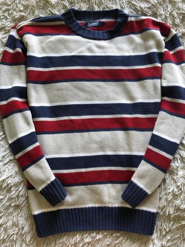 Тёплый мужской свитер signal buksesnedkeren размер указан л/хл