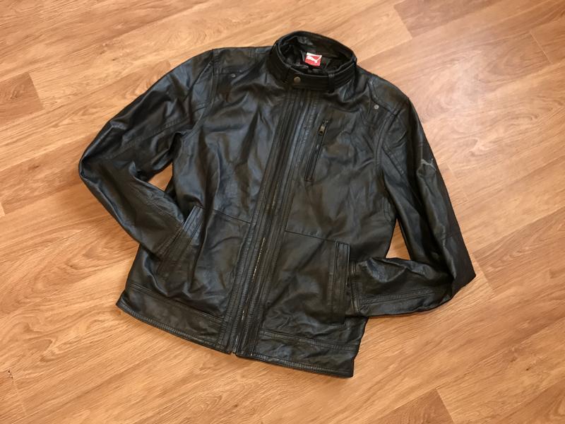 Улётная кожаная курточка (кожанка) от puma leather jacket